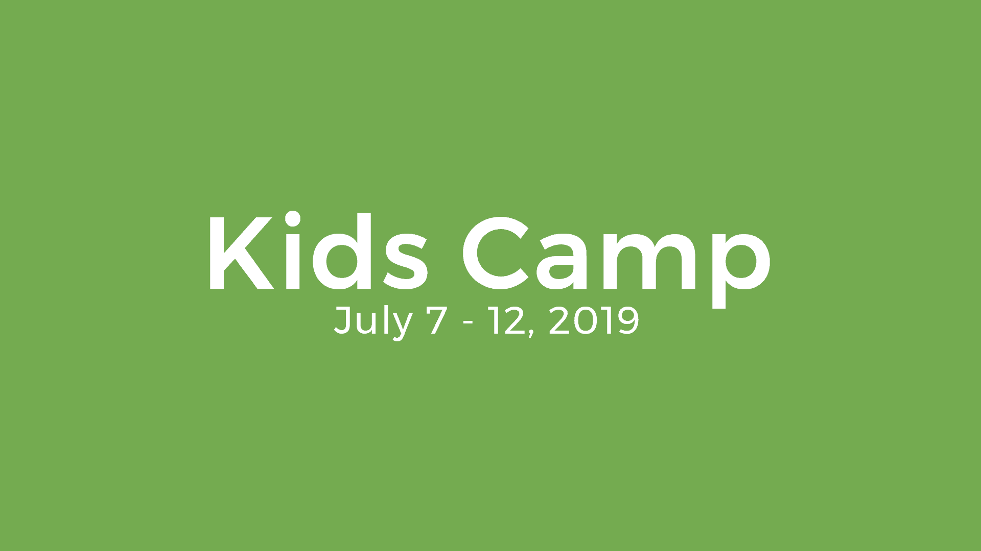 Hoffmantown Kids Camp 2019